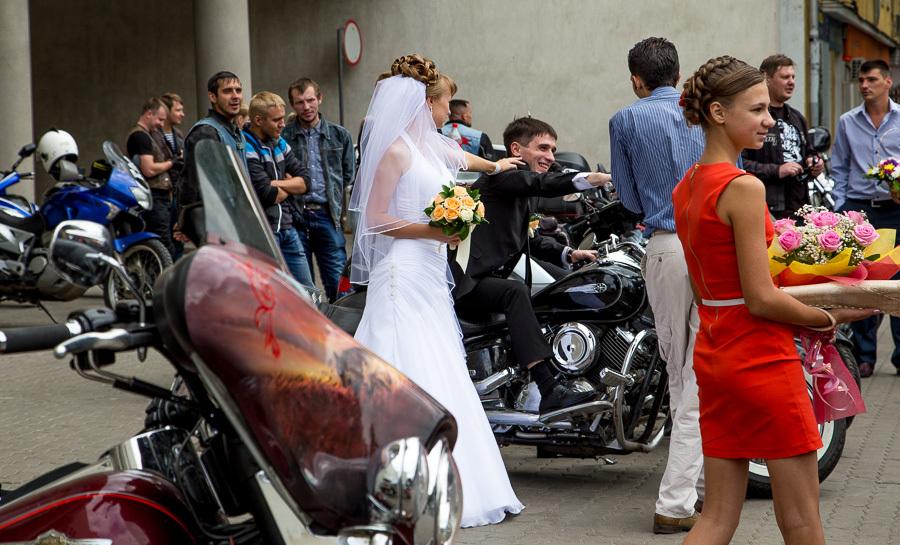Только свадьба байкер